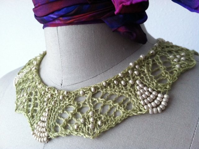 Knitting Pattern For Lace Collar : Endira Necklace - Azalea and Rosebud Knits