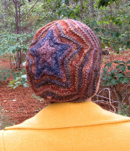 Zoey Star Beret hat knitting pattern by Cassie Castillo