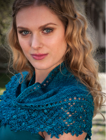 Siren Shawl knitting pattern by Cassie Castillo.  From the book Once Upon A Knit.