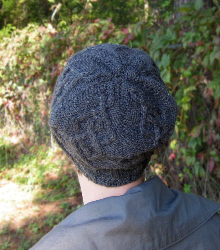 Argyle Cabled Beret hat knitting pattern by Cassie Castillo